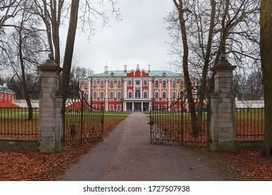 Baroque castle Kadriorg in Tallinn, Estonia. Moody autumn weather.