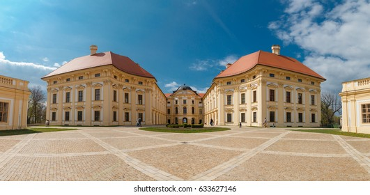 Baroque chateau Slavkov u Brna in Czech Republic