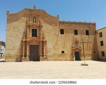 Baroque christian monastery in Santa Faz, Alicante, Spain.