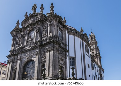 The Baroque Church Of Clerigos (Igreja Dos Clerigos, Architect Nicolau  Nasoni, 1763)