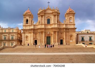 Baroque church San Francesco in Noto, Sicily