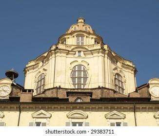 Baroque church of San Lorenzo in Turin (Torino)