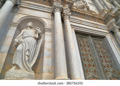 Baroque decorations of the Cathedral of Saint Mary of Girona, Catalonia, Spain