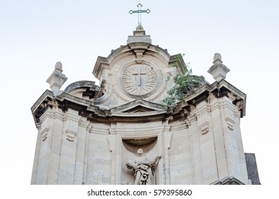 Baroque facade of the Church in Catania, Sicily, Italy.