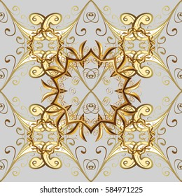 Baroque ornament. Baroque damask vintage raster seamless pattern background illustration with antique floral medieval 3d flowers and ornaments.