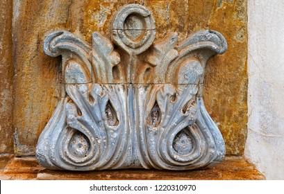 Baroque ornament at historical city of Ouro Preto, Brazil