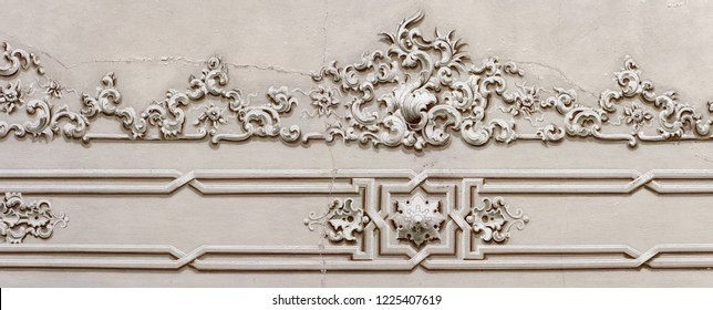 Baroque ornament strip art theme