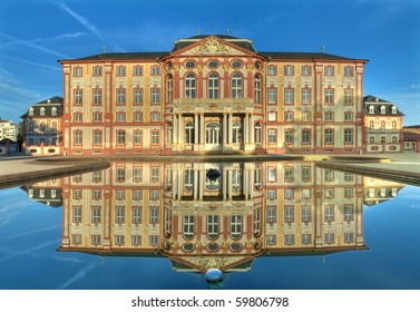 The baroque palace of Bruchsal, Germany
