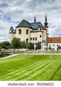 Baroque St. Cross church and monastery, Litomysl, UNESCO, Czech Republic, Europe