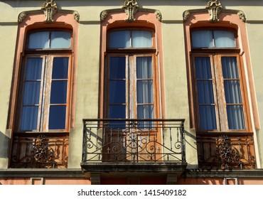 baroque style balcony.la laguna. tenerife