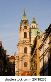 Baroque style St. Nicholas church in Prague.
