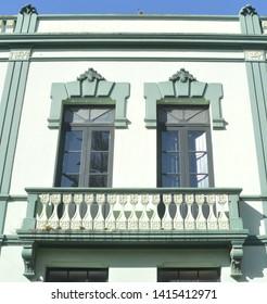 baroque style window. la laguna. tenerife