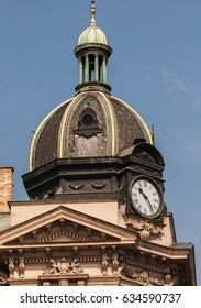 Baroque tower with clocks