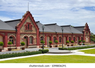 Barossa Valley, South Australia/Australia - January 01, 2018: Chateau Tanunda vintage winery on a sunny day. It was established in 1890, a Heritage Place, currently used as a cellar door