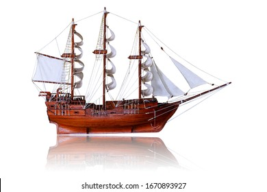 barque isolated on white background.This had clipping path.