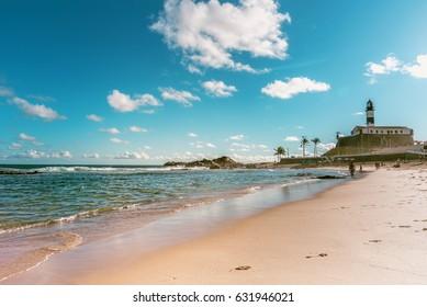 Barra Beach with Lighthouse in Salvador da Bahia