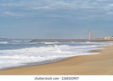 Barra beach near Aveiro, Portugal