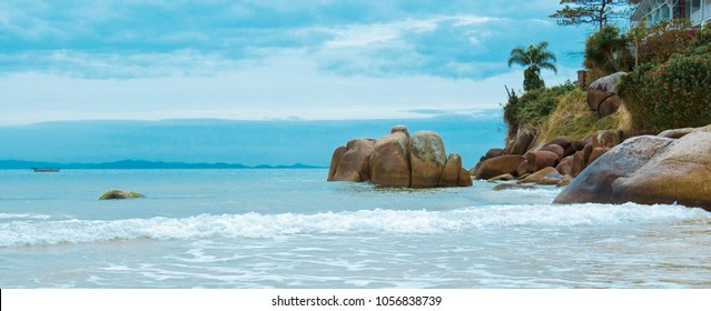 Barra da Lagoa beach, island of Florianopolis Brazil,