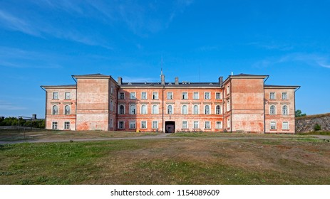 Barrack in Suomenlinna, Castle of Finland in English, an island fortress in the Gulf of Finland, protecting the capital city of Helsinki. Suomenlinna is an UNESCO World Heritage Site.