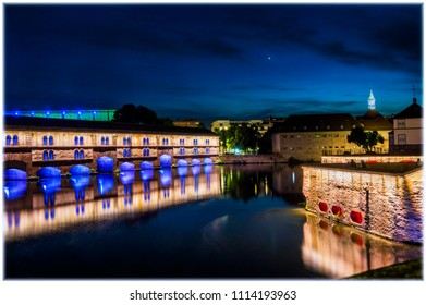 Barrage Vauban, Strasbourg, at night