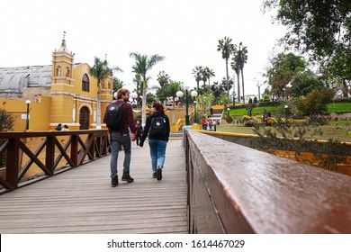 BARRANCO, LIMA, PERU, JULY 23, 2019: bridge of sighs on july 23, 2019 in Barranco, Lima, Peru