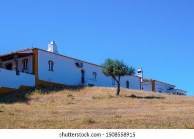 Barrancos/Alentejo/Portugal - May 19, 2019 Typical Alentejo house in Barrancos, Alentejo, Portugal