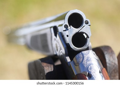 The barrel of the gun for target shooting skeet