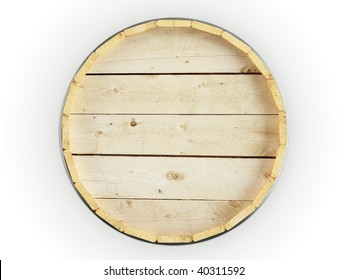 Barrel head isolated on white background.Top view.