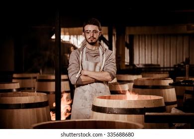 Barrel Making in Bordeaux Vineyard