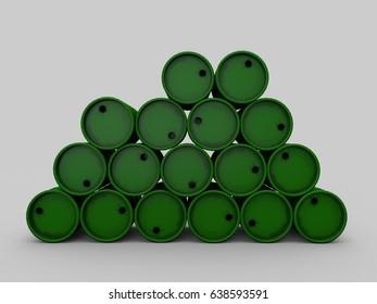 barrels 3d rendering