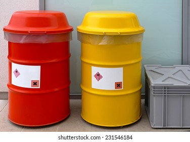 Barrels for dangerous and hazardous waste disposal
