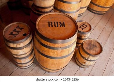 Barrels of liquor