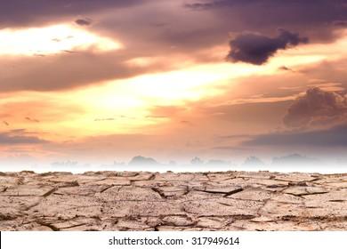 Barren ground or cracked soil pattern.