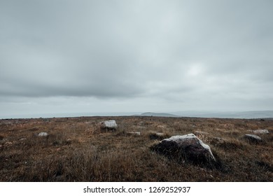 The barren landscape on the Brocken