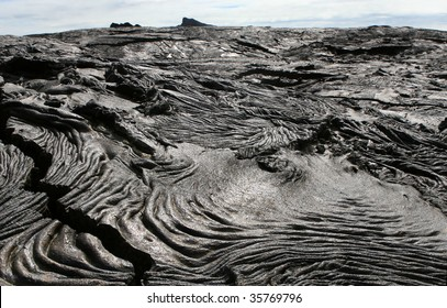 The barren lava fields of the Galapagos Islands