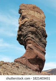 The barren volcanic formed landscape of Mount Teide in Tenerife. A popular tourist site on the Canary Island.