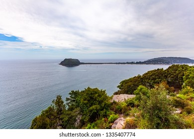 Barrenjoey Lighhouse - heritage-listed lighthouse at Barrenjoey Headland in Sydney, Australia - Shutterstock ID 1335407774