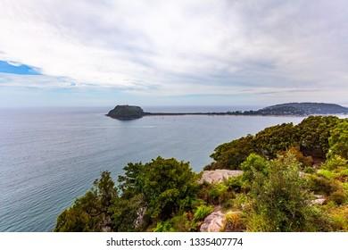 Barrenjoey Lighhouse - heritage-listed lighthouse at Barrenjoey Headland in Sydney, Australia - Shutterstock ID 1335407774