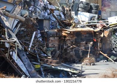 Barricades after a storm on the main street of Kiev, Euromaidan