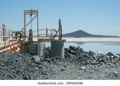 Barrick Gold Mines West Wyalong NSW processing plant extraction lake