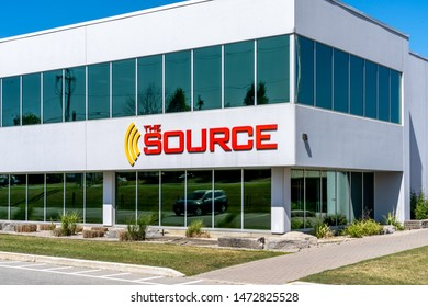Barrie, Ontario, Canada - August 4, 2019: Source Canada Headquarters in Barrie, Ontario, Canada. The Source is a Canadian consumer electronics and cell phone retail.