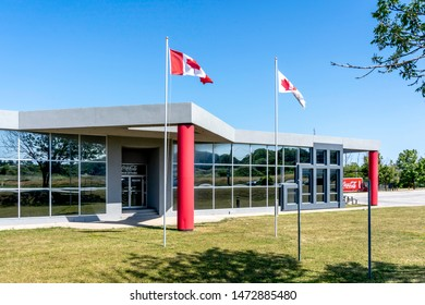 Barrie, Ontario, Canada - August 4, 2019: Building of Coca-Cola Canada Bottling Limited in Barrie, Ontario, Canada. Coca-Cola is a carbonated soft drink manufactured by The Coca-Cola Company.