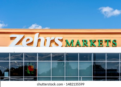 Barrie, Ontario, Canada - August 4, 2019: Sign of Zehrs Markets in Barrie,  Ontario, Canada. Zehrs Markets is a Canadian supermarket chain in southern Ontario.