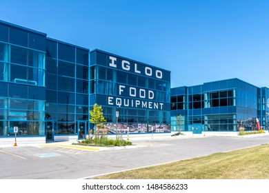 Barrie, Ontario, Canada - August 4, 2019: Igloo Food Equipment Kitchen supply store in Barrie, Ontario, Canada. Igloo Food Equipment is a Canadian restaurant equipment and smallwares supplier.