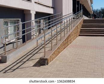 barrier free environment. parapet for wheelchair and bicycle.