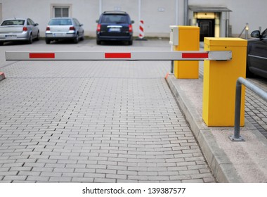 Barrier of a hotels parking lot