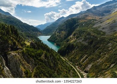 Barrier Lake in Carinthia, Austria