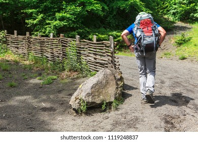 barrier and lonely hikers