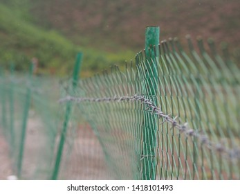 Barrier made from green steel.