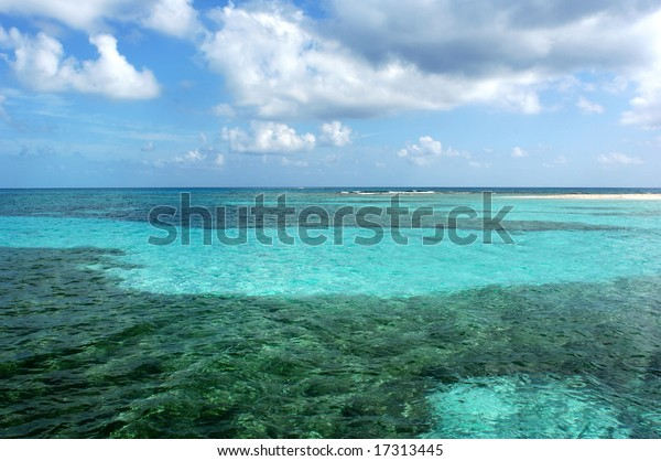 The Barrier Reef in Belize, the second largest in the World.